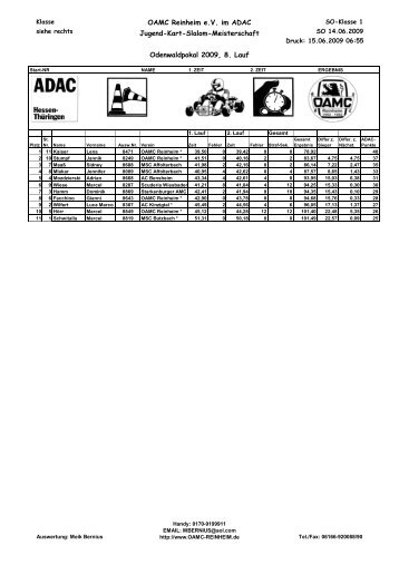 OAMC Reinheim e.V. im ADAC Jugend-Kart-Slalom-Meisterschaft ...