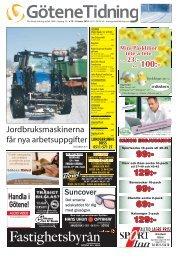 Jordbruksmaskinerna - Götene Tidning