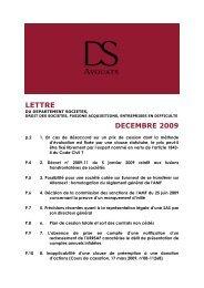 LETTRE - DS Avocats