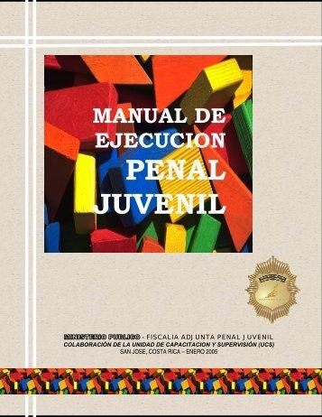 MANUAL DE EJECUCION PENAL JUVENIL - Ministerio Público