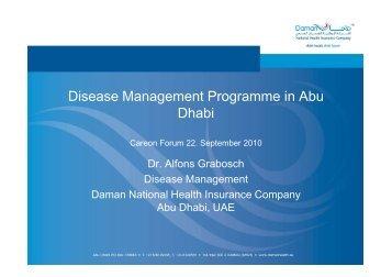 Disease Management-Programme in Abu Dhabi - careon: GESUNDHEITSAKTE.DE