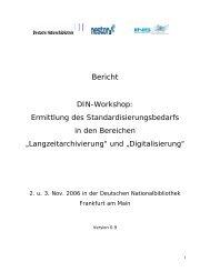 Bericht - Deutsche Nationalbibliothek