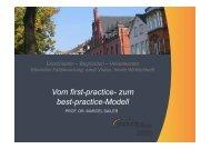 Vortrag Prof. Dr. Marcel Sailer: Vom first-practice - Fachtagung ...