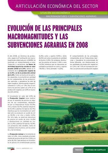 Anuario COAG 2009. Articulación económica del sector