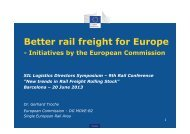 Better rail freight for Europe - SIL