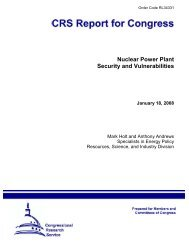 Nuclear Power Plant Security and Vulnerabilities January 18, 2008