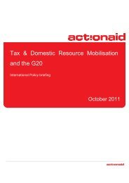 Tax & Domestic Resource Mobilisation and the G20 - Peuples ...
