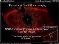 Exozodiacal Dust & Planet Imaging NASA Exoplanet Program ...