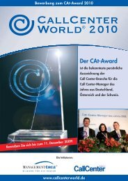 Der CAt-Award - Callcenter-Profi