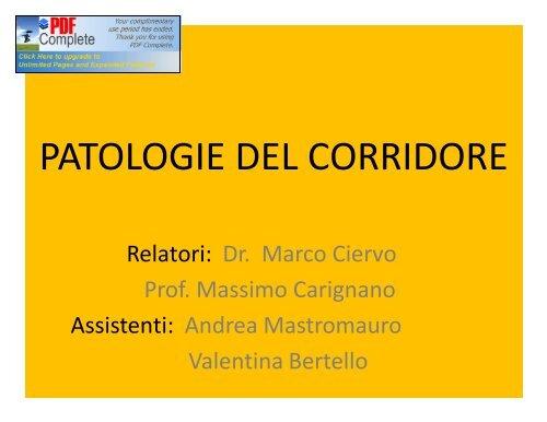 PATOLOGIE DEL CORRIDORE - Fidal Piemonte