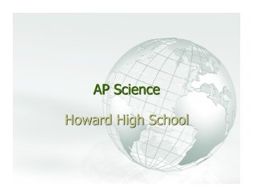 AP Science Overview - Howard High