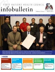 March 2011 - First Nations Health Council