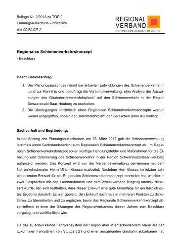 Beil. 2/2013 - Regionalverband Schwarzwald-Baar-Heuberg