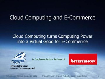 Cloud Computing and E-Commerce - Virtual Goods