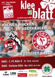 1. FC Köln II Fr. 14.9. 19:30 Uhr RWO - SC Rot-Weiß Oberhausen eV