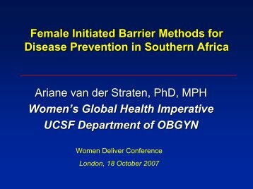 Female initiated methods - Women Deliver