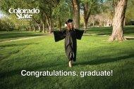 Congratulations, graduate! - Commencement - Colorado State ...
