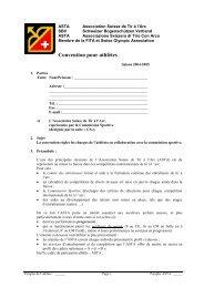 Convention pour athlètes - ASTA