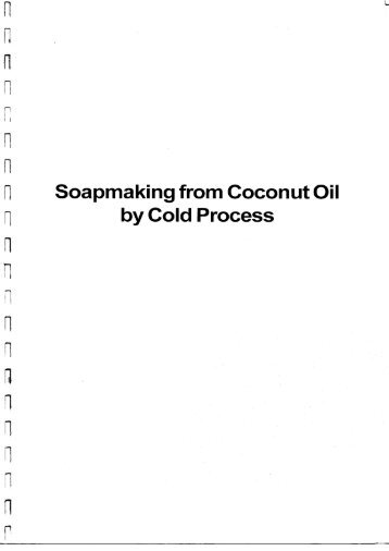 Soapmaking from Coconut Oil