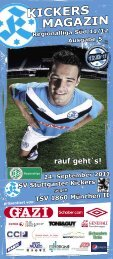 05 Kickers-Magazin TSV 1860 München II (pdf - SV Stuttgarter Kickers