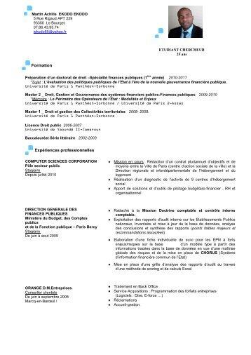Formation Expériences professionnelles - Imodev