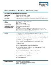 Betriebswirtschaftliches Basiswissen Managementbereich ...