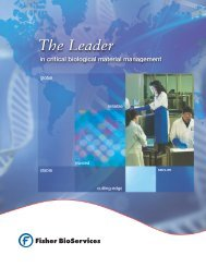 Download Brochure - Fisher BioServices