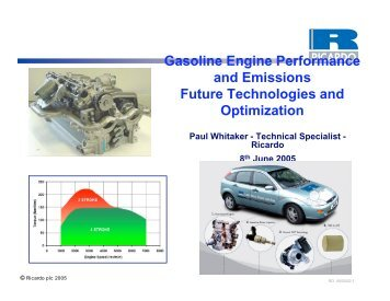 Gasoline Engine Performance and Emissions