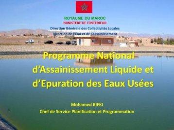 Programme national d'assainissement liquide et d'épuration - pseau