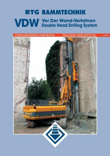 VDW Vor Der Wand-Verfahren Double Head ... - AGD Equipment