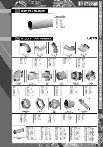 Page 1 23 p á g ACCESORIOS EPOXI APROBADOS > Curva 90 ...