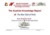 Austrian Knowledge Report - Agenda Wissen