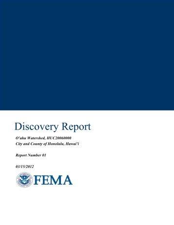 Honolulu Discovery Report - FEMA Region 9