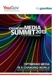 YOUGOV | THE GUARDIAN | CHANGING MEDIA SUMMIT REPORT