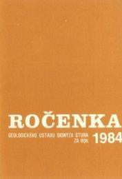 1984 (pdf - 60,4 MB) - Štátny geologický ústav Dionýza Štúra