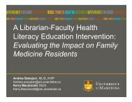 A Librarian-Faculty Health Literacy Education ... - CHLA-ABSC