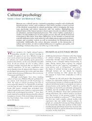 Cultural psychology - University of British Columbia