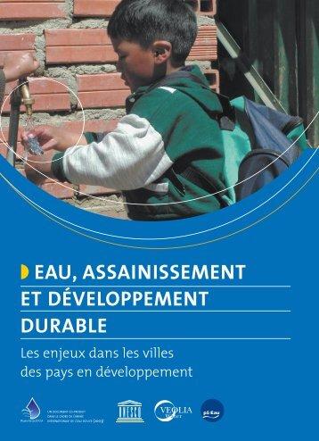 Eau, assainissement et développement durable – Les ... - pseau
