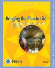 Implementing the Hazard Mitigation Plan - Bureau of Homeland ...