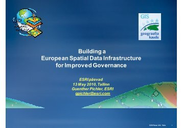 Building a European Spatial Data Infrastructure for ... - AlphaGIS