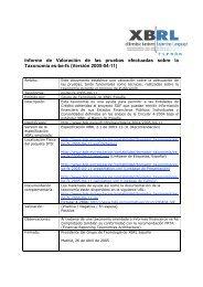 Documento valoración de Pruebas - XBRL España