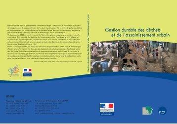 Gestion durable des déchets et de l'assainissement urbain - pseau