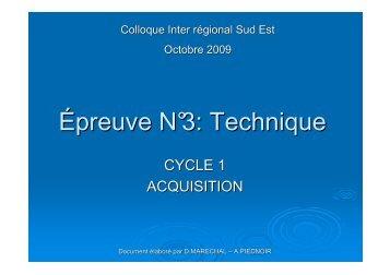 Epreuve N°3 Acquisition