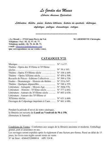 Catalogue n°21 - Livre Rare Book