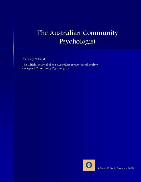 issue 2 08 - APS Member Groups - Australian Psychological Society