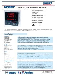 4400 1/4 DIN Profiler Controller - Temp-Press Inc