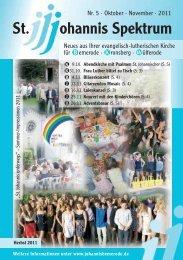 Heft Okt. 2011 - Nov. 2011 - St. Johannis Bemerode