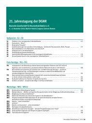 21. Jahrestagung der DGNR