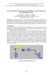 Analysis strategies for Gas Turbine – Solid Oxide Fuel Cell hybrid ...