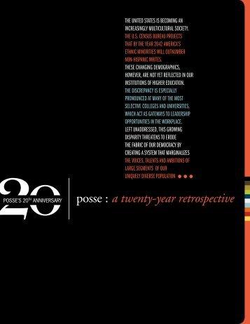 20-year retrospective - The Posse Foundation